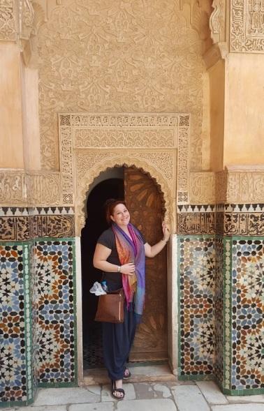 Marrakesch Medersa Ben Youssef Tür
