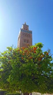 Das Minarett der Koutoubia Moschee