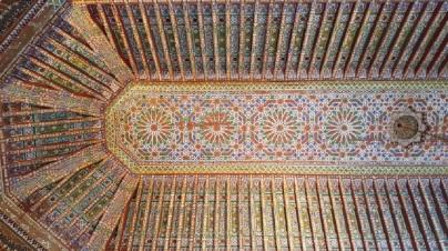 Marrakesch Palais de Bahia Decke 2