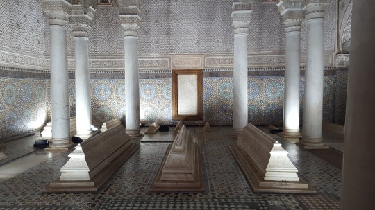 Marrakesch Saadiergräber mit Säulen