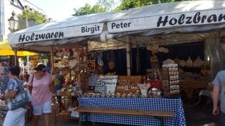 München Viktualienmarkt Holzwaren