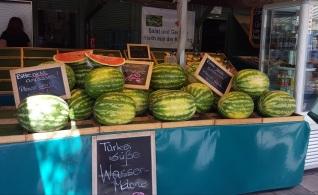 München Viktualienmarkt Melonen