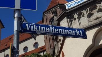 München Viktualienmarkt Schild