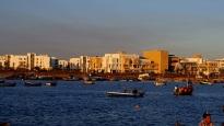 Blick von der Marina nach Salè