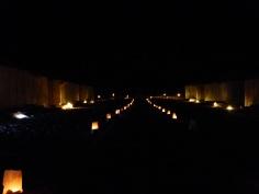 Camp beleuchtet