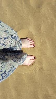 Essaouira Füsse im Sand