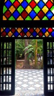 Marrakesch Palais Bahia Türe mit Glas