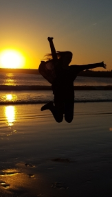 Essaouira Frauke hüpft 2