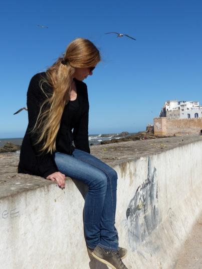 Essaouira Hafen mit Frauke und Katze