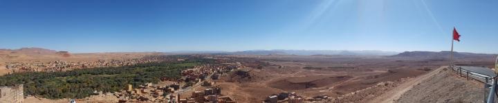 Panorama auf dem Weg zum Dades Tal