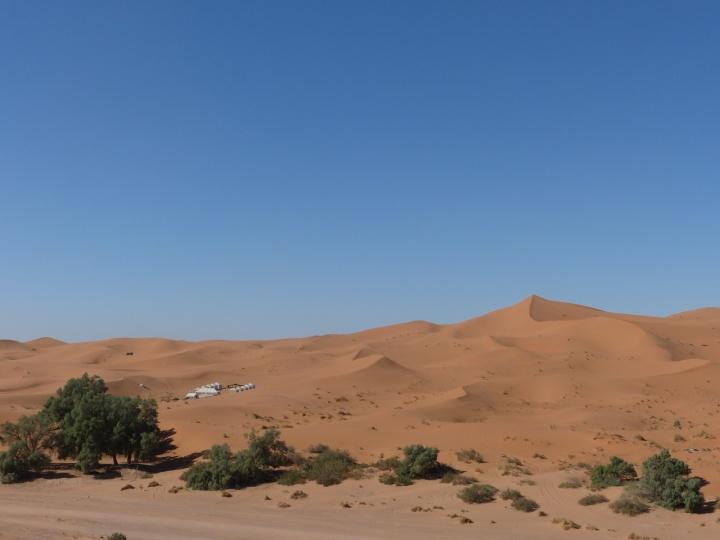 Panoramaausblick auf unser Camp
