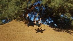 Schaukeln in der Wüste