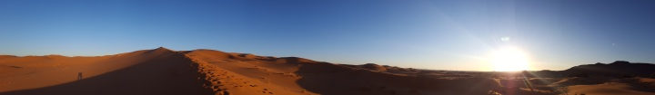 Sonnenaufgang Panorama Wüst