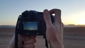 Sonnenuntergang hinter Ouarzazate