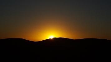 Sonnenuntergang in der Wüste 2. Tag 2