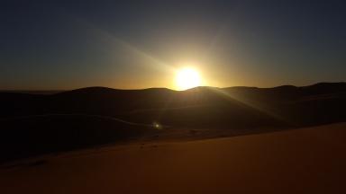 Sonnenuntergang in der Wüste 2. Tag