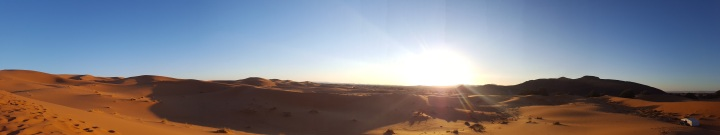 Wüste Panorama Sonnenaufgang