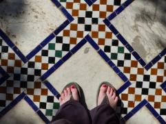 Bahia Palast Fliesen und Füße