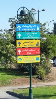 Marrakesch Straßenschild