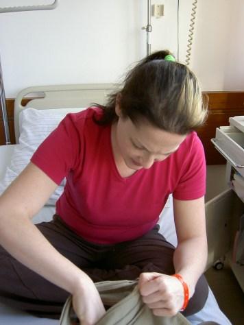 Im Krankenhausbett