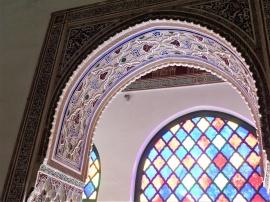 Marrakesch Bahia Palast bunt