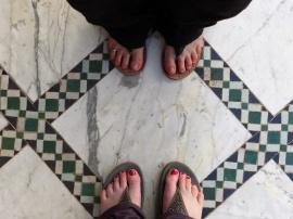 Marrakesch Bahia Palast Zehen