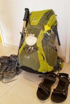 Rucksack fertig gepackt