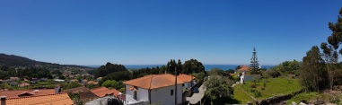 009 Panorama über Meer