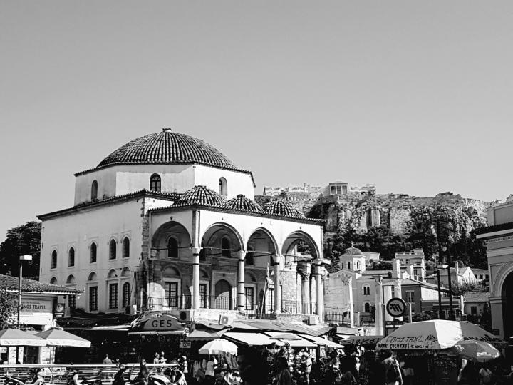 Moschee mit Akropolis